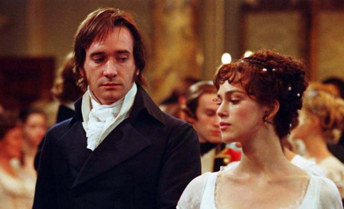 """Una escena de la película """"Orgullo y Prejuicio"""" (2005)  basada en la novela del mismo nombre, de  Jane Austen"""