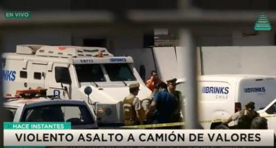 En 2017, un grupo de asaltantes se robó de las oficinas de una empresa de transporte de valores en una comuna de Santiago cerca de 16.000 millones de pesos. (captura de pantalla)