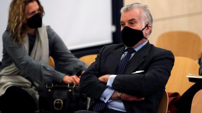 Luis Bárcenas, este lunes 8 durante el juicio