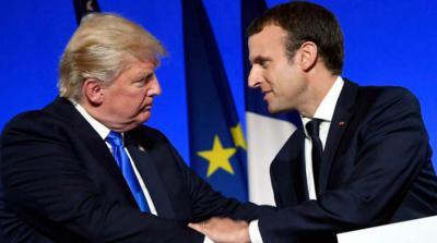 Trump y Macron en una imagen de archivo