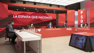 La Comisión Ejecutiva Federal del PSOE, reunida este jueves.