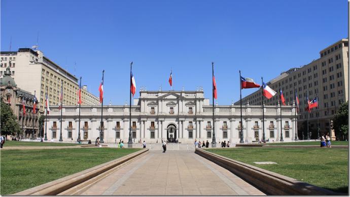 Palacio de la Moneda, sede del Gobierno chileno