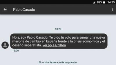 El PSOE denuncia al PP ante la Agencia Española de Protección de Datos por el envío masivo de SMS