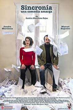 Sandra Marchena y Manuel Regueiro en 'Sincronía, una comedia amarga'