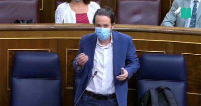 Pasblo Iglesias en el Congreso (captura de pantalla)