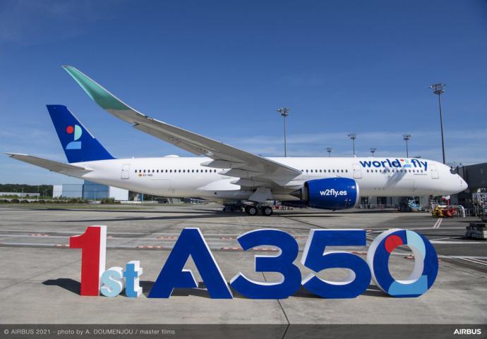 Un avión de la compañía. Foto: Airbus.