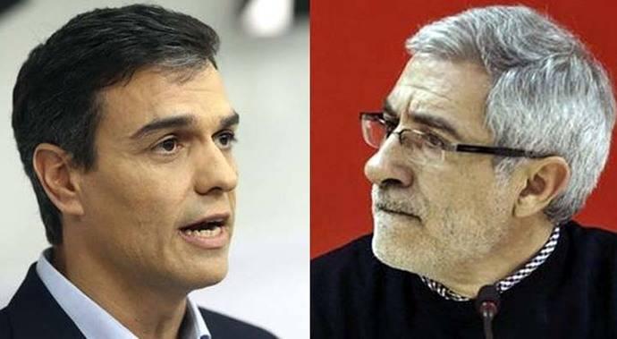 Pedro Sánchez y Gaspar Llamazares.