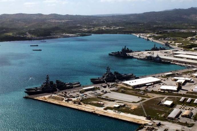 Vista parcial de Guam (imagen de archivo)