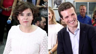 Guerra total entre las candidaturas de Sáenz de Santamaría y Casado a 11 días de la votación