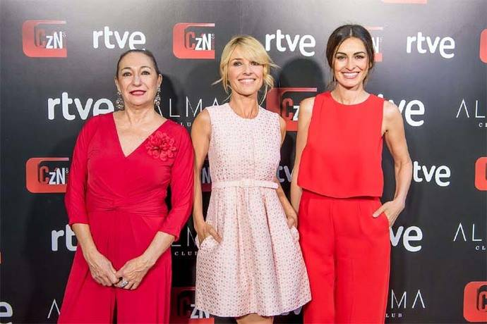 Isabel Preysler, madrina en la fiesta de 'Corazón' de TVE