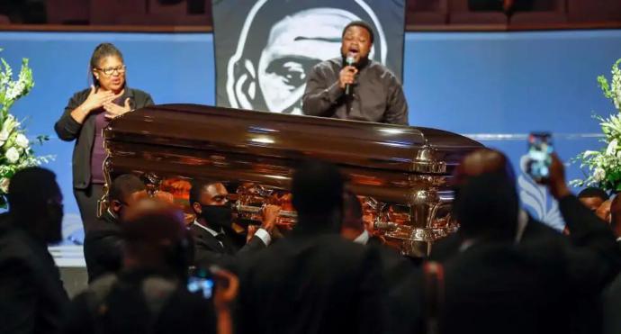 El funeral de George Floyd marcado por tono de las demandas de justicia y erradicación defintiva del racismo en EEU.U.
