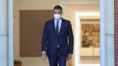 El presidente del Gobierno, Pedro Sánchez, en el Palacio de la Moncloa. EFE/Rodrigo Jiménez/Archivo