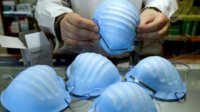 Mascarillas sanitarias usadas para evitar la propagación del coronavirus
