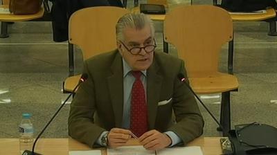 Luis Bárcenas en su declaración este martes, 9 de marzo, en la Audiencia Nacional