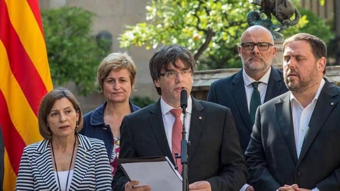 Carles Puigdemont anunció de forma solemne la fecha y la pregunta del referéndum del 1-O ©SANDRA LÁZARO