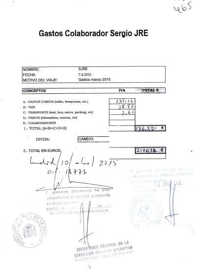 Las pruebas de los pagos con fondos reservados al chófer que espió a Bárcenas