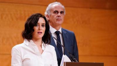 Isabel Díaz Ayuso y su consejero de Sanidad, Enrique Ruiz Escudero Comunidad de Madrid