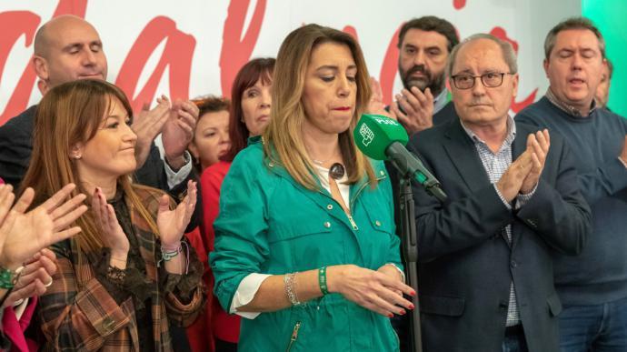 Susana Díaz asume por primera vez la pérdida del Gobierno andaluz