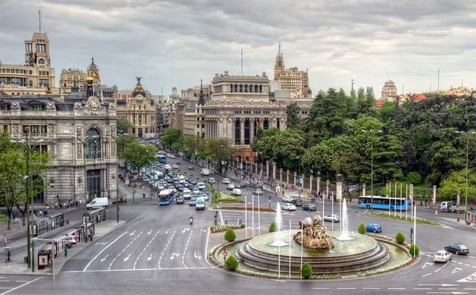 Plaza  Cibeles, Madrid