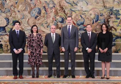 Felipe VI recibe a directivos de la Organización De Estados Iberoamericanos (OEI)