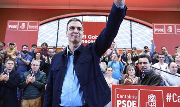 """Lo que estoy haciendo ahora como presidente del Gobierno es resolver una crisis de Estado que el PP agravó cuando estuvo en el Gobierno"""", dijo Pedro Sánchez."""
