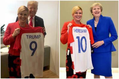 El presidente estadounidense recibió la 9 y la primera ministra británica la 10.