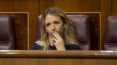 Cayetana Álvarez de Toledo, durante un Pleno del Congreso de los Diputados.