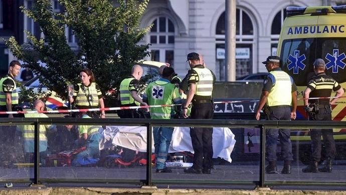Atropellan a varios peatones fuera de estación de tren en Ámsterdam