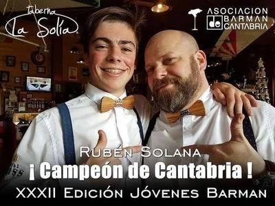 Rubén Solana se proclamó campeón de coctelería para Jóvenes Barmans