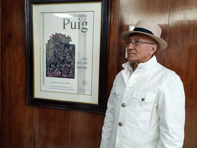 """Andrés Puig dona su reciente serie de pintura """"Rostros cubanos"""" para enriquecer el patrimonio artístico de Cuba"""