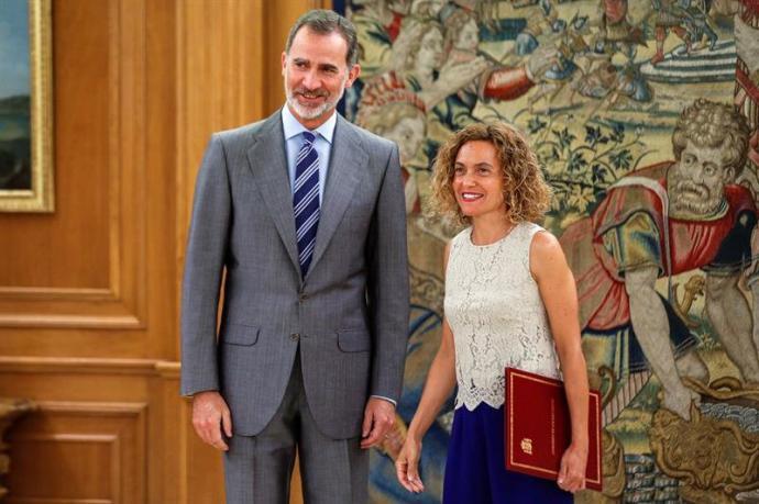 El Rey recibirá este jueves a la presidenta del Congreso en el Palacio de la Zarzuela