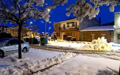 Imagen invernal de Crespos