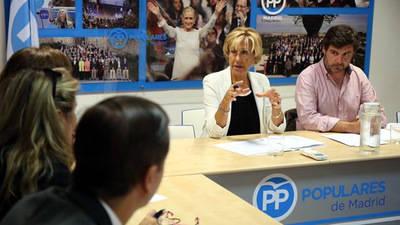 La diputada del PP Carmen Álvarez-Arenas, en un foro sobre emprendimiento. Foto: PP de Madrid