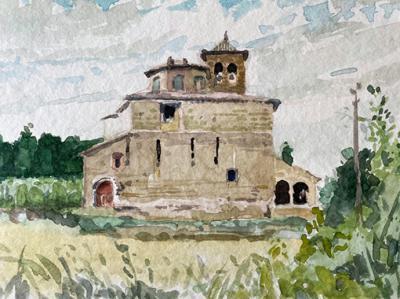Fernando Alvira: Acuarelas del confinamiento en el Museo Julio Gavín-Castillo de Larrés