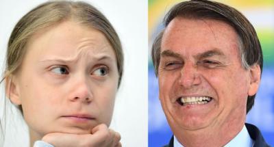 """Bolsonaro arremete de nuevo contra Greta Thunberg: """"La mocosa... ahora está haciendo su showcito en la COP25"""""""