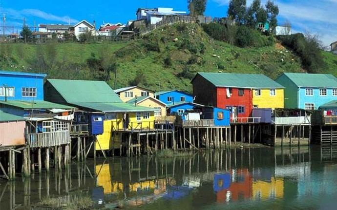Angelmó. en el sur de Chile