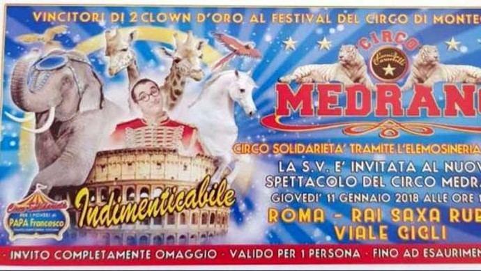 El ticket que repartió el Vaticano entre sus invitados para el circo. (Recuperado por el diario La Stampa)