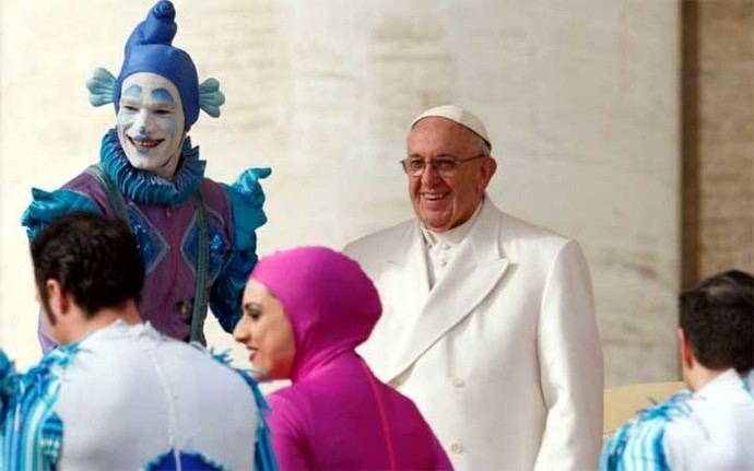 El Papa Francisco asistió a un espectáculo circense en el Vaticano, en noviembre de 2017