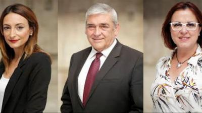 alle Miguélez, Francisco Álvarez e Isabel Franco, diputados de Ciudadanos en Murcia