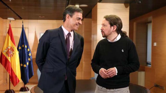 PSOE y Unidas Podemos acuerdan un Gobierno de coalición con Iglesias de vicepresidente