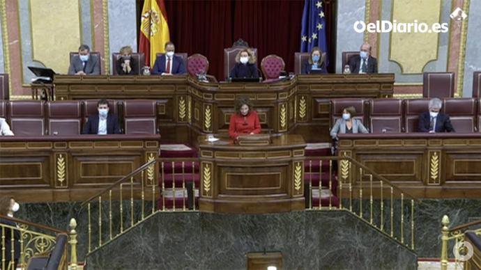 La ministra de Hacienda y portavoz del Gobierno, María Jesús Montero (Captura de pantalla)