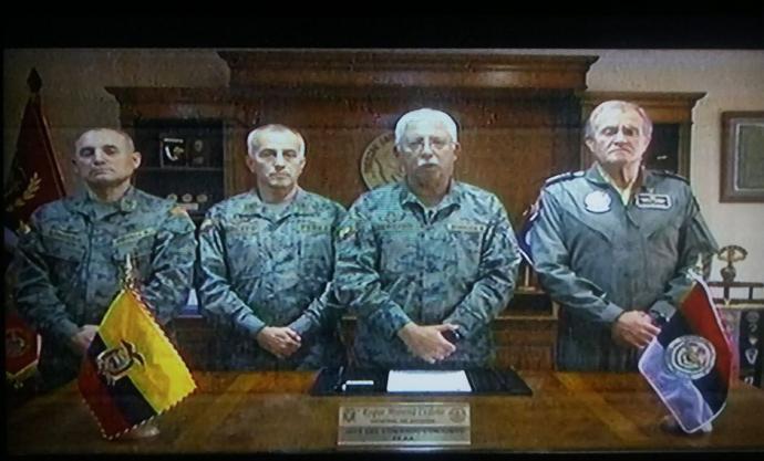 Ecuador: Fuerzas Armadas anuncian restricción de movimiento en todo el país durante 24 horas