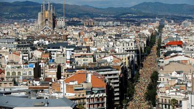 Independentistas dan prueba de su fuerza el Día de Cataluña