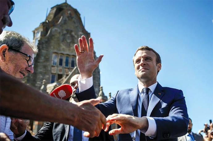 Macron afronta su primera prueba de fuego en las calles