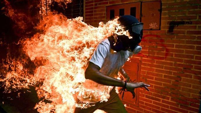 La imagen titulada 'Crisis de Venezuela' fue considerada la foto del año