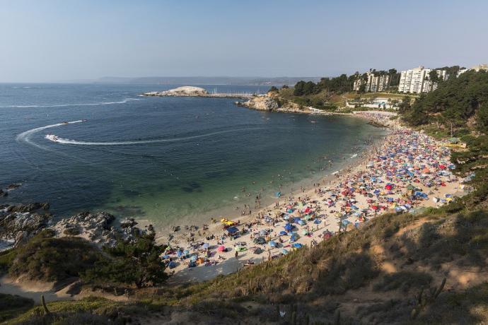 La playa de Algarrobo