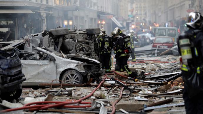 Explosión por fuga de gas en París deja tres muertos y 50 heridos