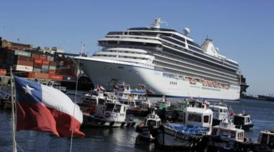Crucero con 3.300 pasajeros recaló en Valparaíso, Chile