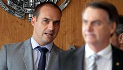Jair Bolsonaro mencionó por primera vez la posibilidad de nombrar en Washington a su hijo el jueves, un día después de que este cumpliera 35 años.