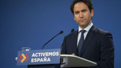 Teodoro García Egea, el pasado miércoles, durante una rueda de prensa.PP
